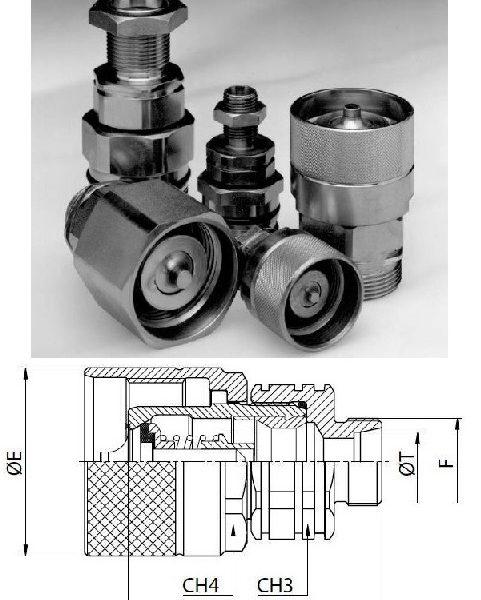 M36x2 külső menetes összecsavarható hidraulika gyorscsatlakozó dugó S2536