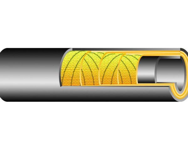 BUHAR 7 bar / DN50 gumibázisú forróvíz és gőztömlő -40 ℃-tól +165 ℃-ig