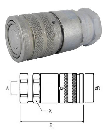 Cseppmentes hidraulika gyorscsatlakozó hüvely BSP1/2