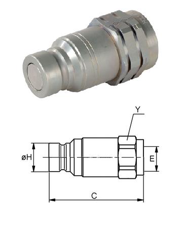 Cseppmentes hidraulika gyorscsatlakozó dugó BSP1/2
