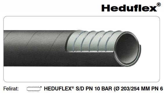 HEDUFLEX Gumi szívó-nyomó tömlő ipari felhasználásra DN203mm