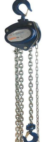 ST BLUE 10000kg 3m kézi láncos emelő túlterhelés védelemmel