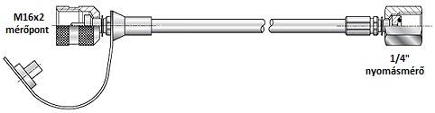 Mérővezeték 630bar 2500mm