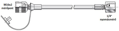 Mérővezeték 630bar 1500mm