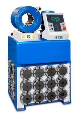 O+P H130 EL Állványos elektromos működésű tömlőprés