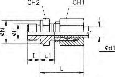 Egyenes behajtható csavarzat 15LM 18x1