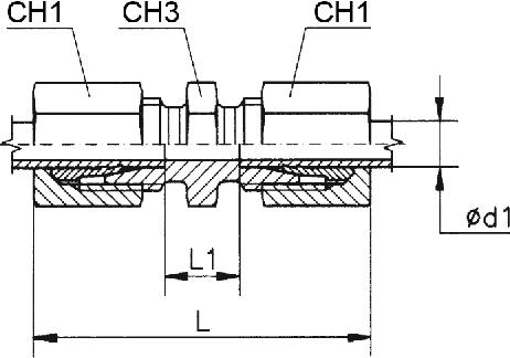 Egyenes összekötő csavarzat 38S M52x2