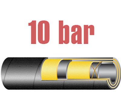 10 bar-os nagy átmérőjűolaj és üzemanyagálló tömlő