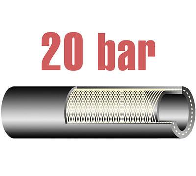 20 bar-os olaj és üzemanyagálló tömlő