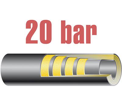 20 bar-os nagy átmérőjű levegőtömlő